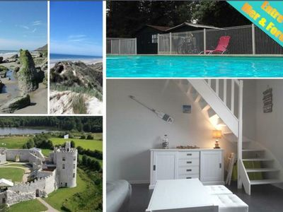 Photo for NEW .. Charming duplex T2 with swimming pool and tennis
