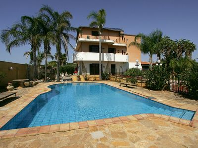 """Photo for MARSALA VILLA WITH POOL AND SAUNA """"BLUE DIVE"""""""