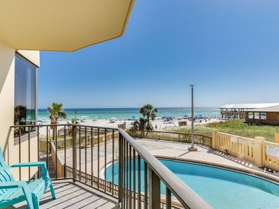 Photo for Cozy Beachfront Living - recently remodeled! Balcony w/Sunset views, Sunbird 211