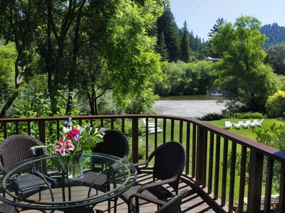 Photo for Riverwood Cottage -- Riverfront with Hot Tub, Beach, Island (Last Minute Deals)