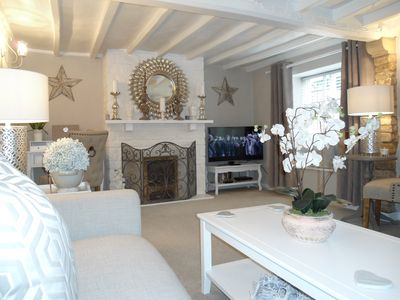 Very Spacious Lounge with Feature Fireplace