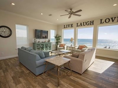 Photo for 6 BR,6 bath ~ Gulf Front ~ Sleeps 17 ~ All Tile ~ Pier Serenity Beach House