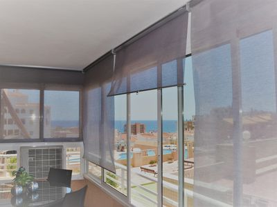 Photo for Cozy apartment with sea views, in Urbanization with pool