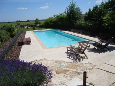 Photo for Maison Mazeray, Meursault. Character village home, 4 dble bedrooms, heated pool