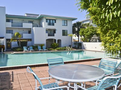 Photo for Ocean Park Terrace 202 Gulf Front Spacious 2/2 Pool Condo Rooftop Deck