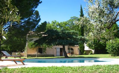 Photo for Les Rocans, a charming farmhouse set in olive groves with stunning views