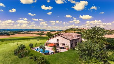 Photo for Superb House with Heated Pool & SPA Panoramic View! 5 * Wi-Fi