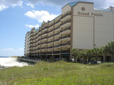 Building facing the Alabama Pointe waterway