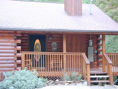 Photo for Two bedroom cabin with King Beds, WI-FI, hot tub, community pool, tennis, views