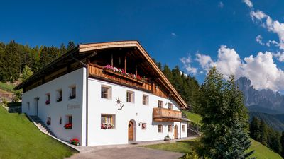 Photo for Quiet, sunny side farmhouse in Val Gardena with impressive landscape