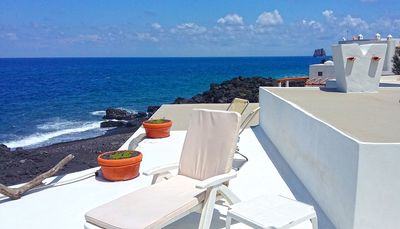 Photo for Cute House with direct access to the beach of Piscità, stunning terraces & WiFi