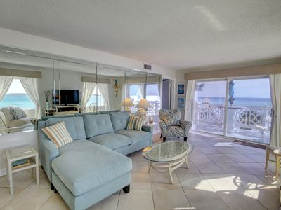 Photo for Panoramic Views Condo w/Balcony, Pool, Tennis, Private Beach Access, & More!
