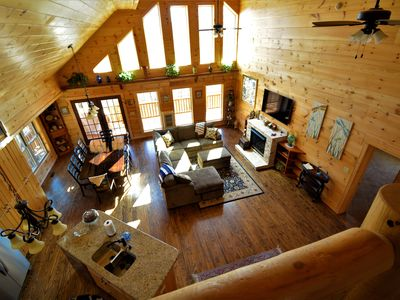 Photo for Stunning New Log Home  sleeps 11