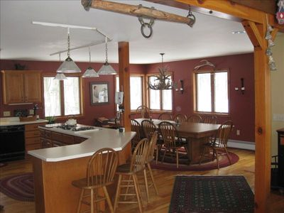 Kitchen and Dining Room opens into Great Room