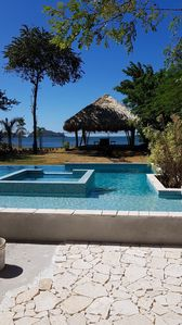 Photo for Beachfront luxury 2 bed ( max 8 people ) beautiful salt infinity pool.