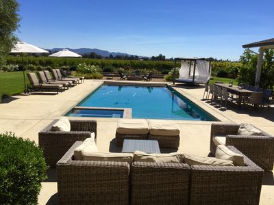 Photo for Napa! Newer custom home, sparkling pool, amazing views, and plush landscaping!