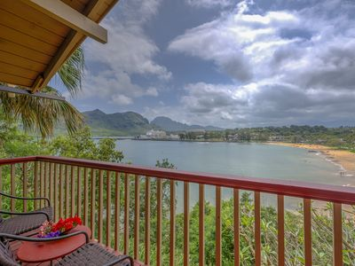 Photo for Typical Hawaiian Beach cottage above Kalapaki Bay with Marriott pool pass