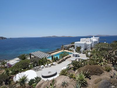 Photo for Villa Capari in Mykonos with private pool, panoramic view, 7 bedrooms, 14 sleeps
