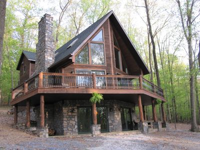 Photo for Luxury Cabin Nestled In The Beautiful Blue Ridge Mountains