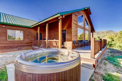Hot tub after hiking is a must!