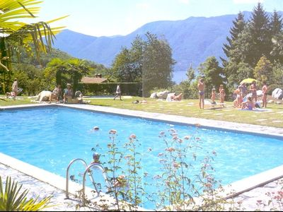 Photo for Eucalipto 1 with lake view in Germignaga and pool in residence