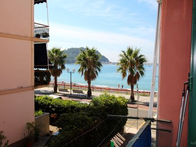 Photo for 20 meters from the beach, 4 beds, terrace, sea view - FREE WIFI