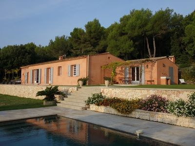 Photo for MAGNIFICENT PROVENCAL VILLA WITH POOL AND SEA VIEW