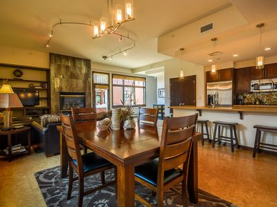 Photo for Luxury Condo in Downtown | Heated Garage | Chic & Modern Decor | Fire Pit Views