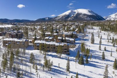 Your Condo Tucked Against Buffalo Mountain Right On Open Space And Trails (Condo is in Front Building)