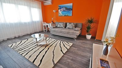 Photo for Apartment RINO****, 58m², 170m from the beach, spacious, modern, newly renovated
