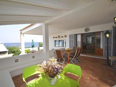 Photo for XOROI- Rustic house with sea views in front Bahia Alcudia. BBQ Majorca. Children welcome -103076- - Free Wifi