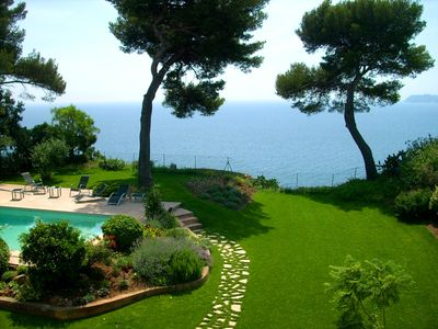 Beautiful garden with sea view