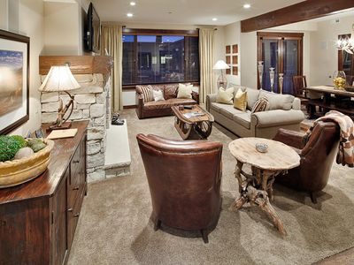 Photo for Modern condo with classic ski decor -- on-site chairlift, concierge and winter shuttle service
