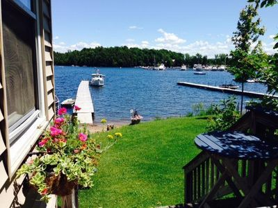 Photo for Cozy year round lakefront cottage with gorgeous views!