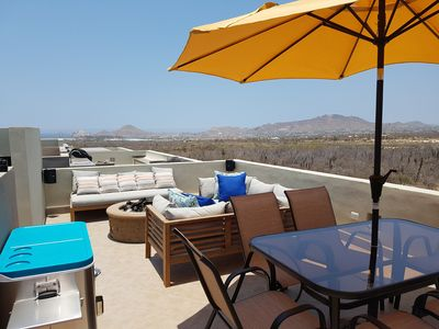 Rooftop Patio with a beautiful view of the Sea of Cortez