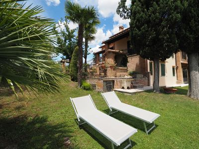 Photo for Casa Uliveta, villa with a view and with a veranda ideal for families or friends