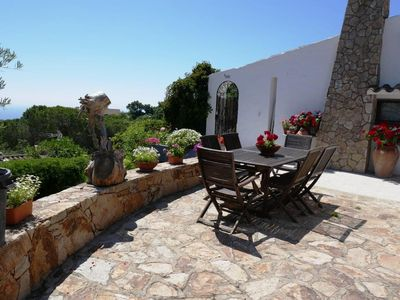 Photo for Gorgeous villa with fantastic sea view and sun terrace, quiet location