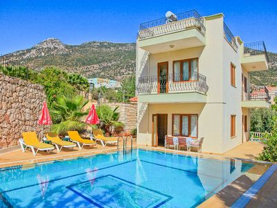 Photo for Villa Arykanoos : Large Private Pool, Walk to Beach, A/C, WiFi, Eco-Friendly