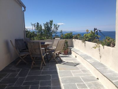 Photo for House in a village of the Cap Corse, charm, view, 15 min walk from the sea