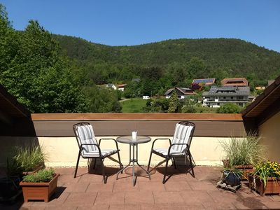Photo for 3 star 50sqm apartment Amsel's nest, private 25sqmterrasse, Wi-Fi, garage incl.
