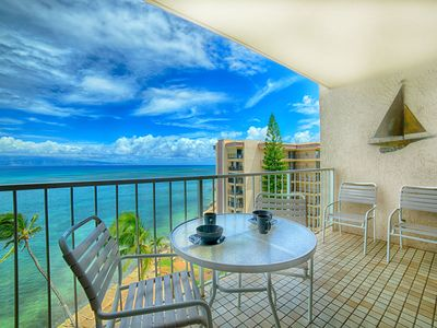 Photo for OCEANFRONT-SEE FOREVER  from your  Lanai !,  Parking, AC, Pool, elevators