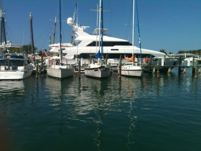 our 3 boats are side by side for family gatherings or weddings