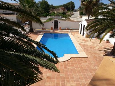 Photo for Villa in Moraira with 10 x 5 m private pool on level plot with large terrace.