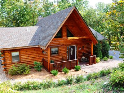 Photo for Amazing Secluded, HotTub, Jet bathtubs, Woods, Near Big Cedar & Shows Firepit - Ole Hickory
