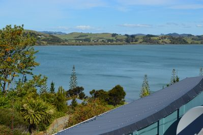 View from balcony overlooking Mangonui Harbour