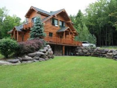 Photo for 'Sundance Vistas - Log home ' - 2 miles from Windham Ski Mountain