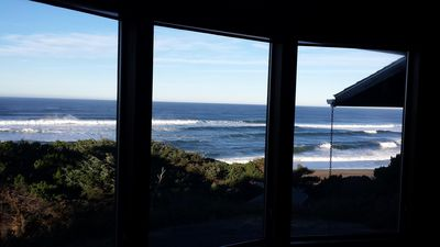 living rm looking north. Also same great view looking south to depoe bay