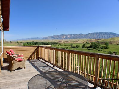 Private deck with Big Horn mountain views