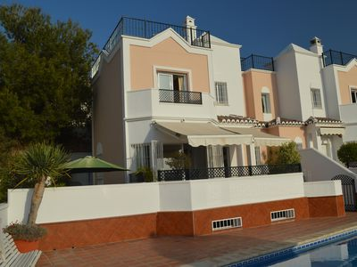Photo for Panorama view towards sea & mountains, Wonderful terraces! Top location! Nerja!