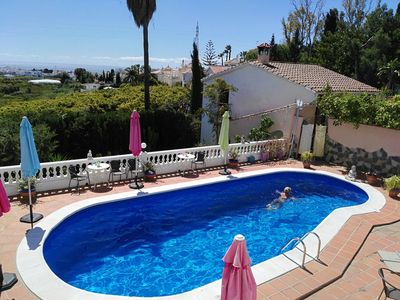 Photo for Spacious villa in unique, green location with sea view on the outskirts of Nerja
